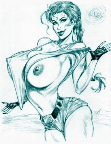 Lara Croft sexy artwork