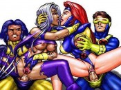 Superbabes hentai style : Superheroes Sex